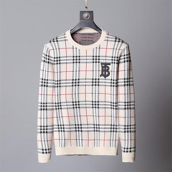 2019 nuevo suéter moda letras de manga larga impreso otoño e invierno suéter para hombre KG22
