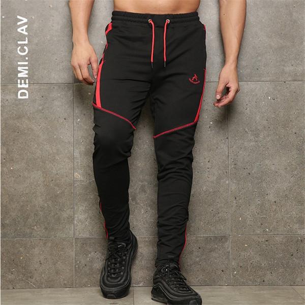 2018 Nouveaux vêtements de gymnastique dans la mode masculine Pantalons Jogger Pants Pantalon décontracté skinny pantalon de qualité supérieure