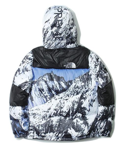 19FW Marca design di lusso The North X Sup cotone cappotto del rivestimento felpate del maglione di modo Streetwear all'aperto con cappuccio Viso Coat02