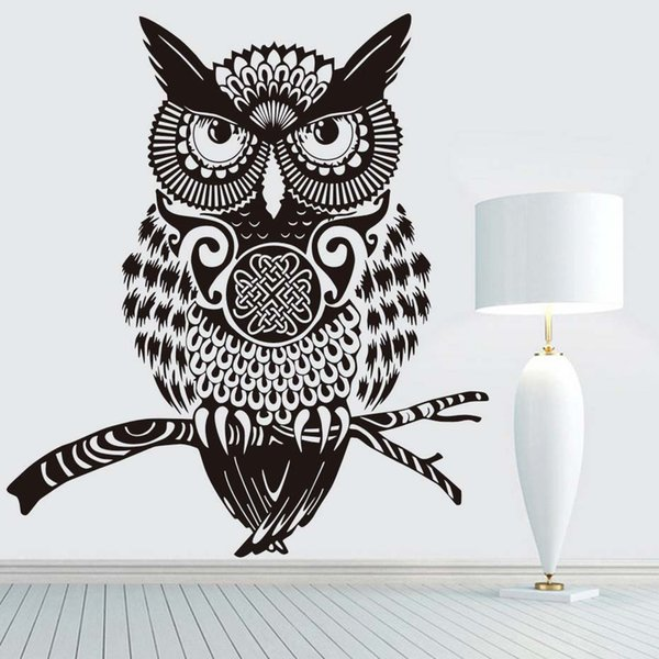 DCTOP High Quality Brown Owl Wall Sticker For Kids Rooms Wall Decor Vinyl Removable Wall Art Decals Home Decoration Accessories