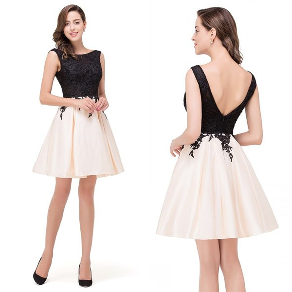 best selling Elegant Lace Appliques Homecoming Dresses Backless Short Prom Party Dresses Cocktail Vestido Cheap High Quality CPS363