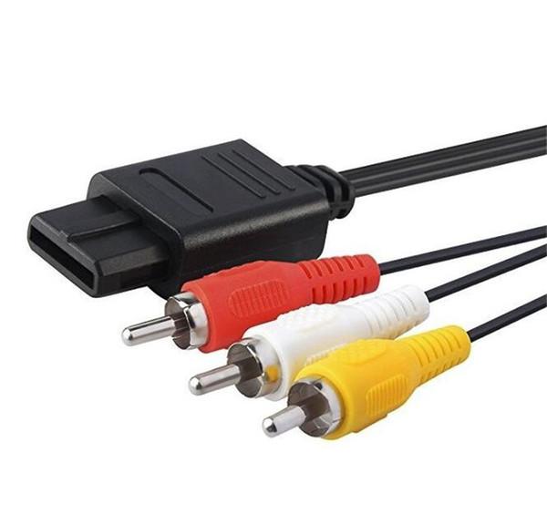 1.8 M 6FT AV TV RCA Video Kablosu Kablosu için SNES Oyun Küp N64 için 64 Oyun Kablosu