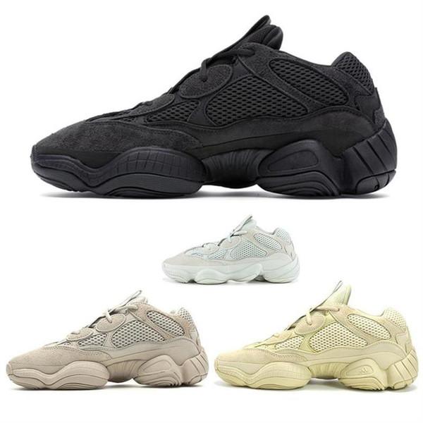 Com Caixa de 2019 Kanye West Salt Blush Super Lua Amarelo Utilitário Preto Desert Rat 500 Top de luxo da moda das mulheres dos homens designer de sapatos sandálias