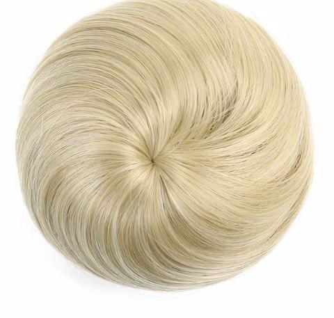 Kurze Haarverlängerungen aus synthetischer Faser Chignon Donut Bun Perücke Haarteil 2019