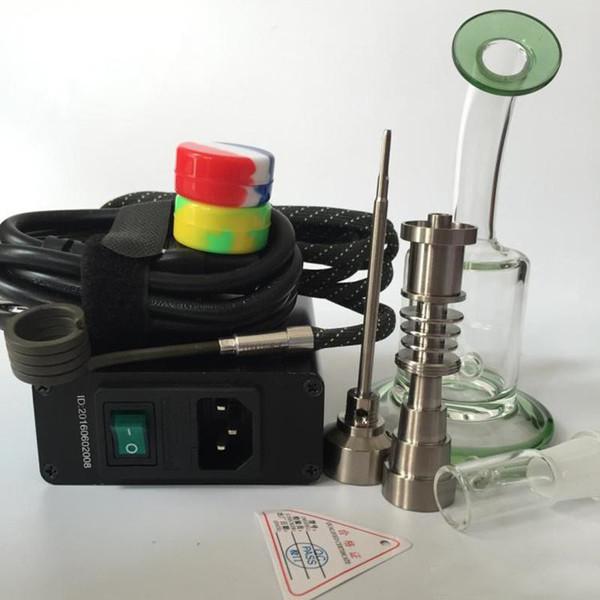 E nail kit majesty hand enail Temperature Controller Box dnail digital with Titanium Nail with Glass Bong Vapor banger