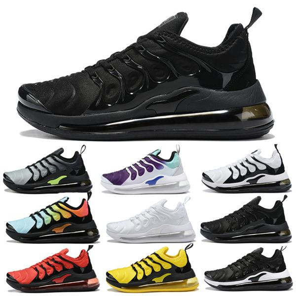 wholesale 2019 formadores tn plus reagir triplo homens sapatos desingers metálico prata branco presto tênis de corrida ao ar livre mulheres zapatos sapatilha
