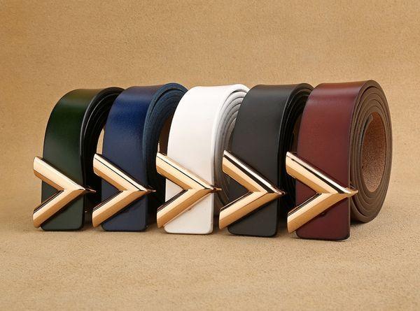 2019 Nuevo Diseñador de Las Mujeres Cinturón V Hebilla Cinturones de Cintura Para Las Mujeres Pantalones Vaqueros 2.5 cm Correa de Cuero Flaco Cinturon Cinturon Mujer de Alta Calidad