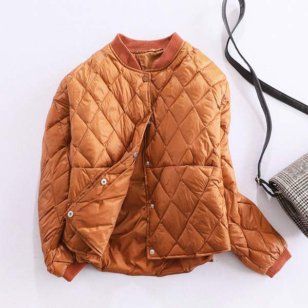 Jaquetas de inverno Das Mulheres Para Baixo Ultra Leve Pato Para Baixo Casaco Curto Preto Baiacu Jaqueta Feminina Oversize Outono Parkas Outwear SF1341