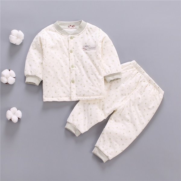 Newborn baby winter warm clothing set toddler pajamas clothes infant coat+pants 2pcs suit for newborn baby kids set costume