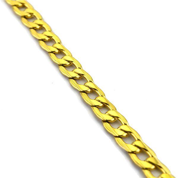 Moda Takı Man Kolye Klasik Punk 9mm Zincirler 18k altın Kaya zincirleri kolye Paslanmaz çelik Tasarımcı kolye kaplama kolyeler