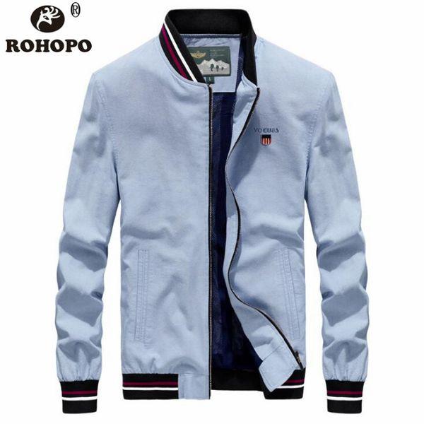 1d3644632 Baseball Men's Cotton Jacket Coat Summer New Design Brand O neck Pilot  Casual Outwear Korean Fashion
