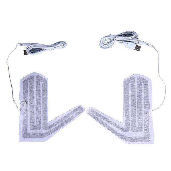 5 V Winter Outdoor Thermische Warme Handschuhe Heizung für Schuhe Handschuhe Pad Handschuhe Erhitzt Pads Elektrische Heizung 1 Paar heißer Verkauf