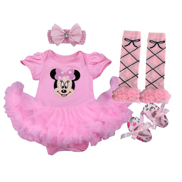 Baby Girl 1st Birthday Outfit.2019 Baby Girl 1st Birthday Outfits Short Sleeve Infant Clothing Sets Lace Romper Dress Headband Shoe Toddler Tutu Set Baby S Clothes From A865043729