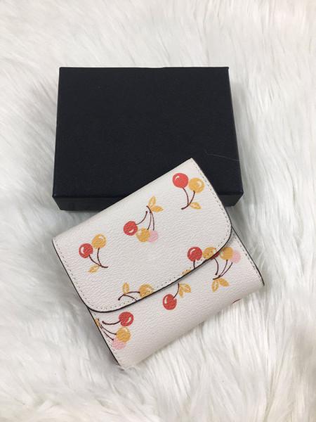 nuevas mujeres del diseñador sversatile la impresión tríptico carpeta corta femenino del monedero posición de la cartera de múltiples tarjetas de alta calidad sweet0f05 moda #