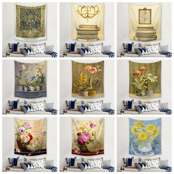 Retro Flower Tapestry Vintage European Wall Hanging Decor Shabby Chic  Floral Tenture Mural Book Bedroom Dorm Tapiz Chinese Tapestry Chinese  Tapestry ...