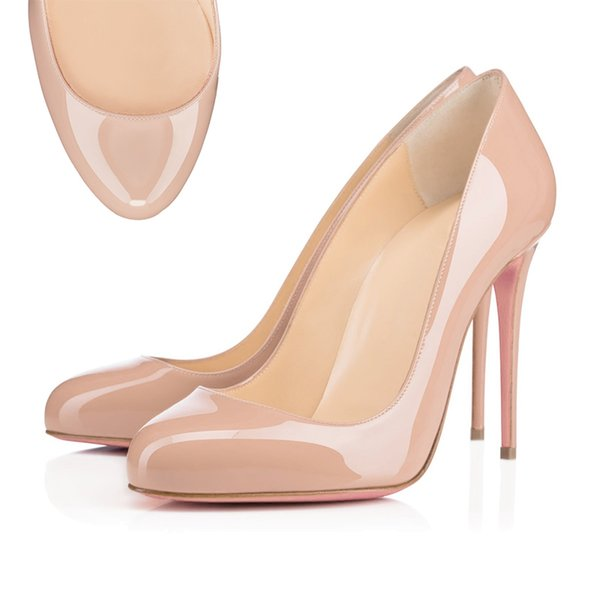 Round Toe Leather Nude