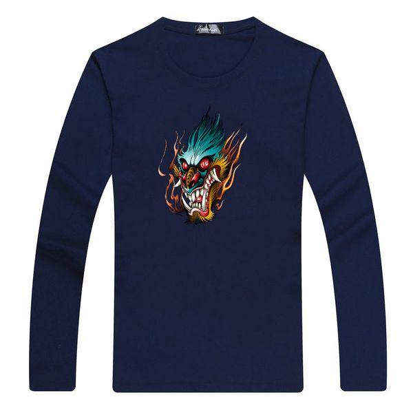 Male 2019 Brand Long Sleeve Letter Printed T Shirt O-neck Slim Men T-shirt Tops Fashion Mens Tee Shirt T Shirts L-5xl