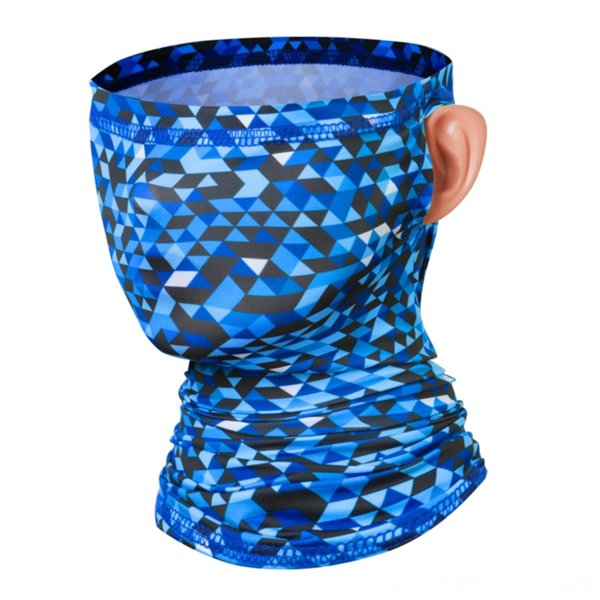 ear-hanging scarf [Diamond Blue]]