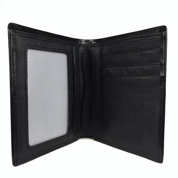 Novo best-seller dos homens de negócios carteira preta titular do cartão de crédito set cartão designer carteira frete grátis saco de pó high-end caixa de presente