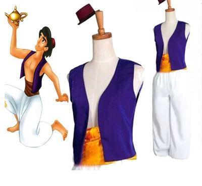 príncipe jazmín princesa jazmín y genio de aladdin traje adulto chico hombres lámpara Halloween Anime Cosplay disfraces Adam