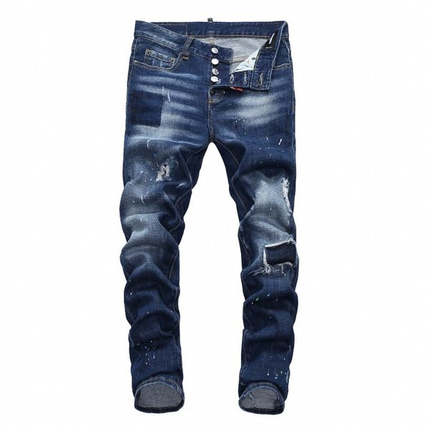 Novo 2019 dos homens Jeans Moda Casual Europeia e Americana Primavera e Outono Calças Dos Homens Longos D7903 Off White Balmain PHILIPP PLEIN DSQUARED2 DSQ2 D2 GUCCI