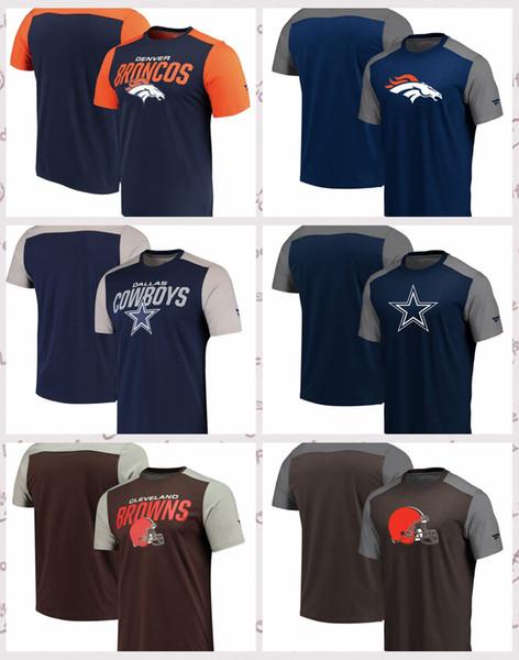Denver Boncos Clveland Browns Dalas Cowboys Pro Line von Fanatics Branded Iconic Color Blocked T-Shirt