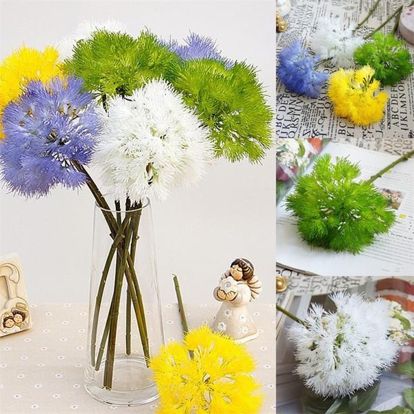 Duvar Peyzaj Yapay Karahindiba Düğün Simüle Karahindiba Ev Dekorasyonu Kutlamak Mavi Yanlış Çiçeği Sıcak Satış 6 3 hz L1