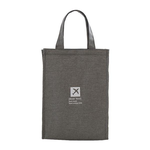 Simple Design Waterproof Polyester Bag Kids Insulated Bags Hoop And Loop Opening Cooler Lunch Box C19021301