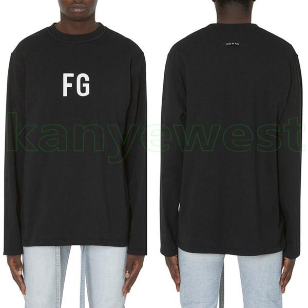 19ss Hip Hop Angst vor Gott 6. FG Oversize T Skateboard dünne Hoodie Cool T-Shirt Nebel Männer Frauen Baumwolle Langarm Casual T-Shirt