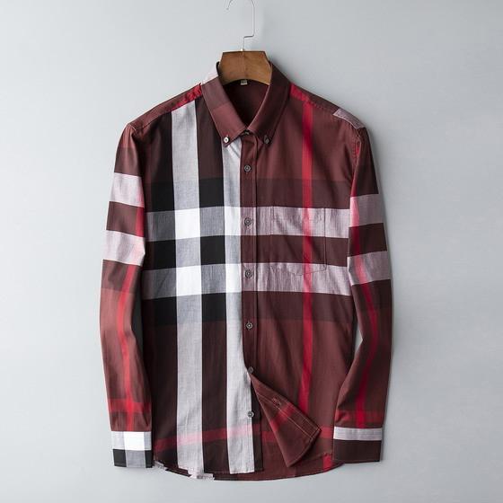 Hight Fashion Клетчатая Рубашка Марка Дизайнерские Мужские Рубашки Повседневная Высокая Мода Red Spring Бизнес Офис Чек Рубашка С Длинным Рукавом Блузка B100223V