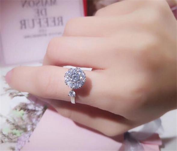 Marca de luxo high-end anel rotativo micro conjunto de zircão pode ser alta velocidade fortuna transformar anel aberto mão ornamentos