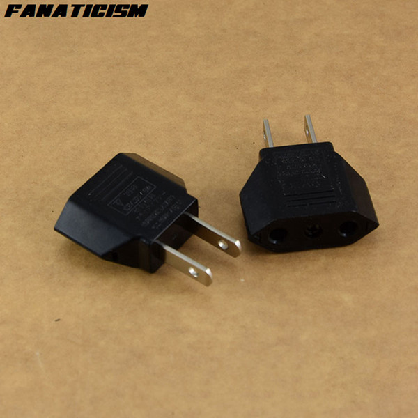 Fanaticism Universal America USA Travel AC Power Electrical Plug Socket 2 Pins Round EU To US Plug Adapter Converter