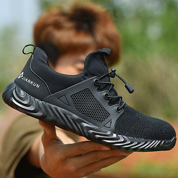 Hommes Femmes travail Air Steel Toe Casual Bottes de sécurité extérieure respirante Chaussures confortables Chaussures Puncture Proof industrielles pour les hommes