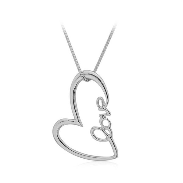Romantic Loving Heart Pattern love Pendant Hollow Necklace Women Lovers Jewelry Gift