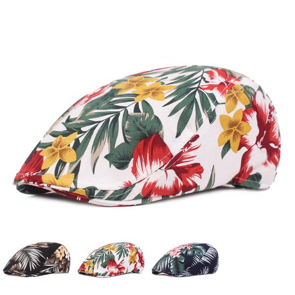 Kadınlar için güneş Şapka Çiçek Bez Nefes Bere Lady Kap Ince Şapka Edebi Gençlik İleri Kapaklar Disket Plaj Paketlenebilir Visor