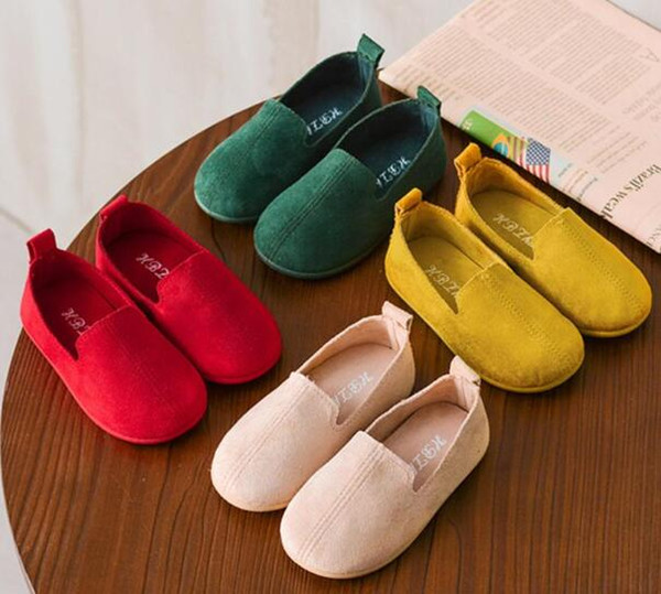 For Girls Sneakers Flat Shoes Single Shoes Candy Color Soft Spring Dance children shoes chaussure fille enfant