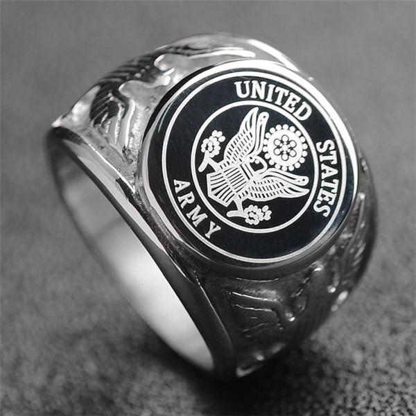 Офицеры из нержавеющей стали Корпус морской пехоты США USMC кольцо ВМС США кольцо USN военная армия и ВВС якорь мужские кольца ювелирные изделия
