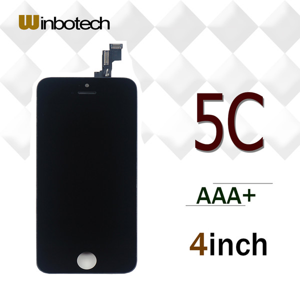 Winbotech Grade AAA LCD Display Touch Digitizer Complete Screen Panels Full Assembly with Frame Replacement For iPhone 5c