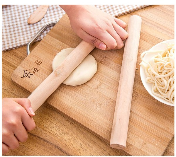 wholesale Natural Wooden Rolling Pin Rolling Pole Kitchen Tool Durable Non Stick Dough Roller High Quality