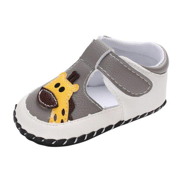 Summer Baby Shoes for Boy Girl Cute PU First Walkers Soft Sole Anti-slip Cartoon Animal Crib Shoes Walking