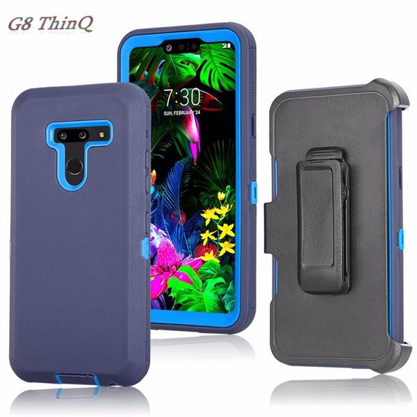 Para Samsung Galaxy A10E A20 A30 A50 A70 NOTA 10 PRO Defensor híbrido Resistente a prueba de golpes Funda protectora Clip para cinturón Funda duradera