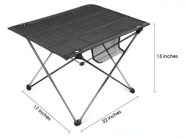Fashion-Free Shipping Ткань Оксфорд Портативный кемпинга стол Открытый алюминиевый сплав Ultralight Складная стол для кемпинга Туризм Пикник