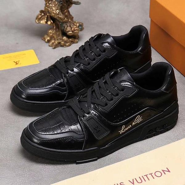 Zapatos entrenador de la zapatilla de deporte de alta calidad de los hombres de los hombres caminando al aire libre Low Top Deportes Footwears Chunky zapatillas Herren Sportschuhe de lujo de zapatos Venta