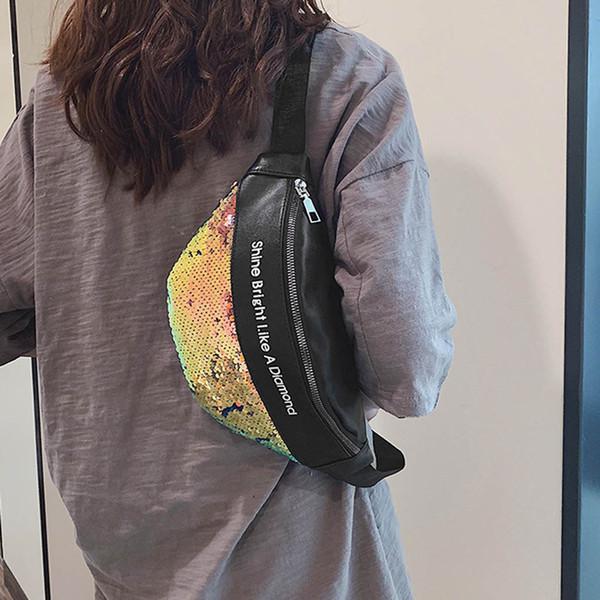 OCARDIAN Gürteltasche Mode Einfache Frauen Und Männer Hochwertigem Leder Wasit Tasche Pailletten Brief Haspe Brust Dropship a29