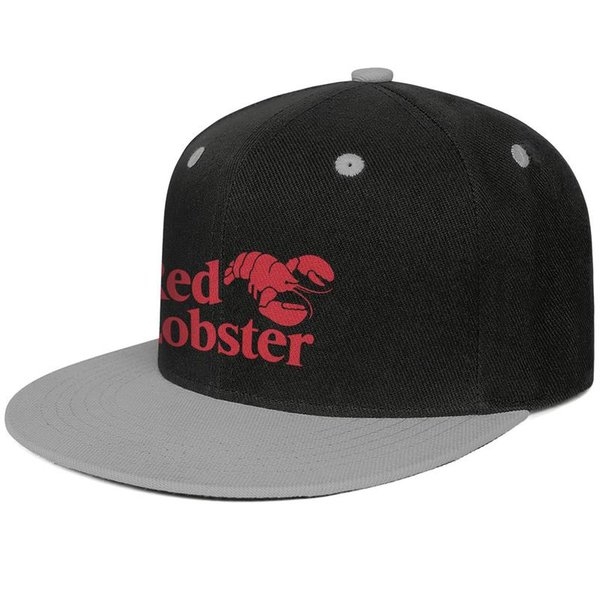 Red Lobster logo sign symbol men Flat-along baseball hat cotton adjustable women's dance cap unique Hip-hop cap mesh dance hats