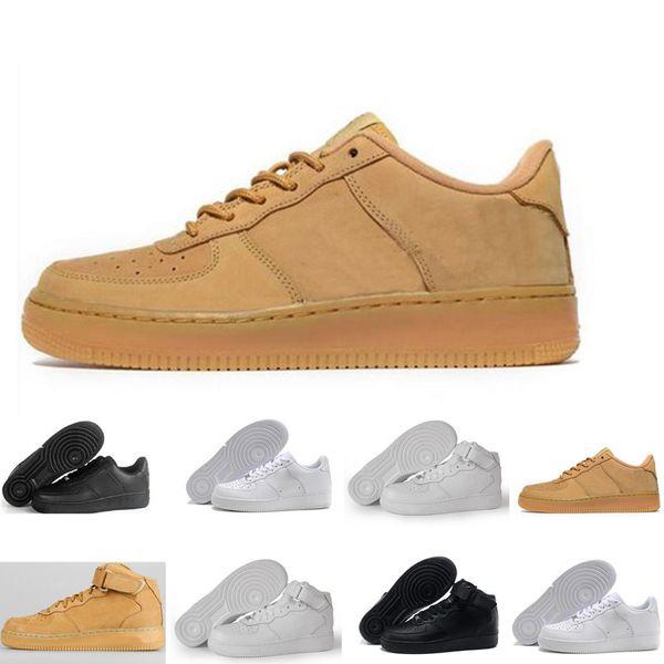 8a0b9b6d336 nike air force 1 one Nueva Llegada One 1 Dunk Zapatos para Correr todos  Negro Blanco