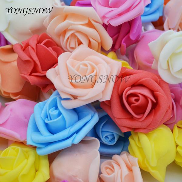 rtificial flowers 50pcs/lot 4cm Artificial Flower Head Handmade DIY Wedding Home Decoration Multi-use PE Foam Rose Decorative Flowers Sup...