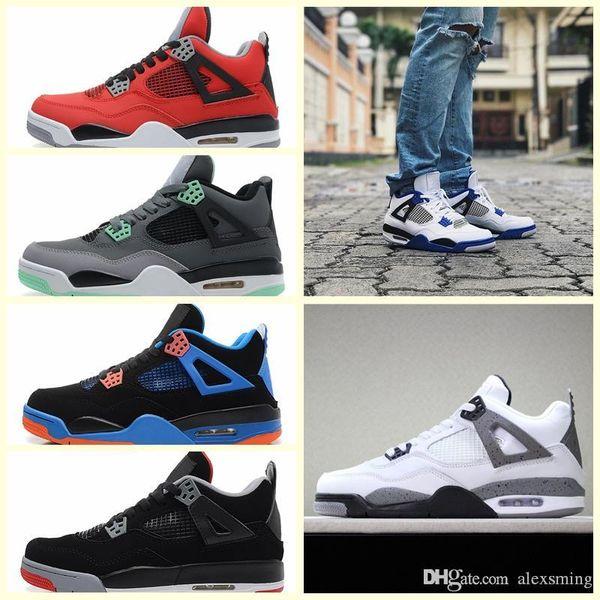 Nike Air Jordan Original AJ AJ4 Scarpe da pallacanestro da uomo Travis x Scarpe sportive Houston Oilers 4s Cactus Jack Denaro puro Rapaci Cemento Gatto nero allevato Sneakers