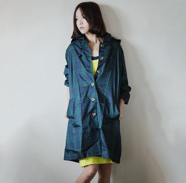 Elegant Raincoat Women Men Long Checked Waterproof Thin Polyester Rain Coat Poncho Trench Coat Travel Chubasqueros Mujer