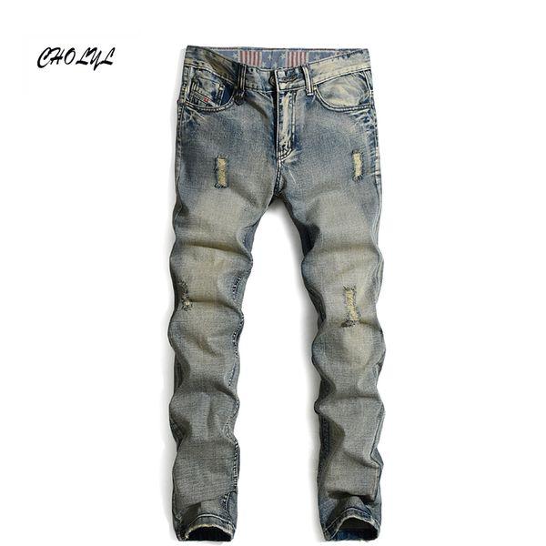 2016 marke herrenmode jeans männer hosen parfüms 100 original jeans männer hip hop gürtel für loch weiß gerade B2556